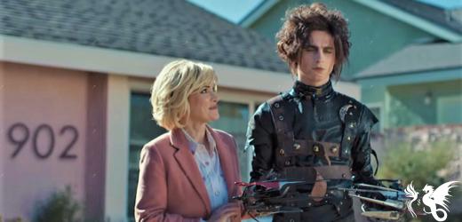 """Il mini sequel di """"Edward mani di forbice"""": Chalamet è il figlio Edgar nel nuovo spot Cadillac"""